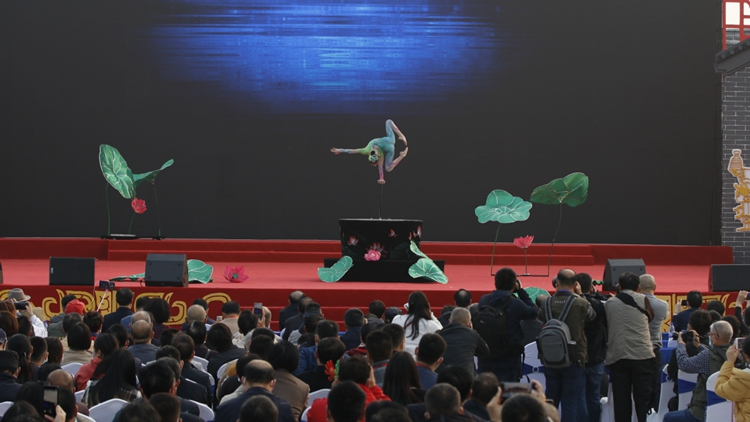In Anhui, acrobats flip, twist and tumble